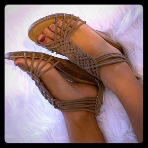 Braided Wedge Sandals